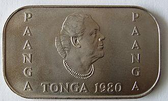 Sālote Tupou III - Tongan 1 paʻanga coin depicting Salote Tupou III