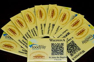 Shire of Toodyay - Toodyaypedia plates ready for installation in Toodyay