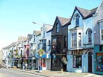Oystermouth - Image: Top of the Town Shops, Oystermouth geograph.org.uk 1479284