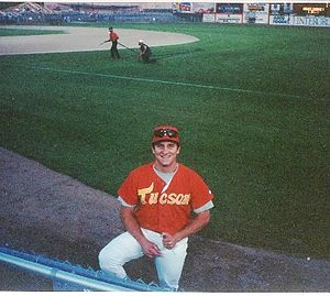 Tucson Toros - a Tucson Toros pitcher smiles for the camera circa 1994