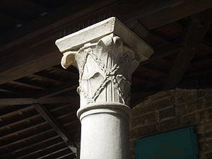 Alberti (family) - The coat of arms of the Alberti in the Torre degli Alberti loggia.