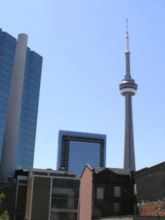 Urban seismic risk - A mixed group of structures, with the CN Tower in the background to the right