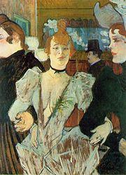 La Goulue arriving at the Moulin Rouge. (1892).