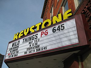 Leon Redbone - Cinema marquee in Towanda, Pennsylvania featuring appearance of Leon Redbone