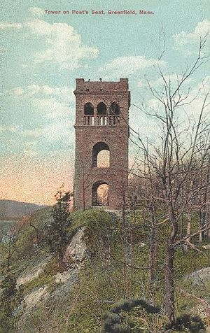 Pocumtuck Range - Image: Tower on Poet's Seat Greenfield MA