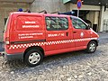 Toyota van for Bergen Brannvesen (fire department) Kurs og kompetanse , Bergen, Norway. 2018-03-18 B.jpg
