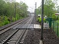 Track crossing at Madison SLE station, May 2013.JPG