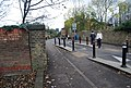 Traffic Calming on the railway bridge, Bridge Rd - geograph.org.uk - 1592541.jpg