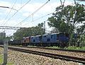 Transnet Coal train - empties headed by Class 18-335, 18-393 and 18-736 at Eloff. On the Ogies - Sentrarand line. (17351165572).jpg
