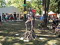 Tree body painting installation at WBF 2015.jpg
