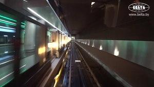 File:Trip of Alexander Lukashenko on the Zielienalužskaja Line by Stadler M110 train.webm