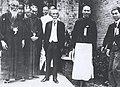 Tsuyoshi Inukai with Mitsuru Toyama and Chiang Kai-shek.jpg