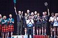 Turin, Italy…2013 WMG medal presentations…1st place 65 Team…Pencil necks (10831011856).jpg