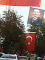 Turkish flags and picture of Atatürk.jpg