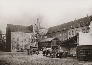 Tvedes Bryggeri - The courtyard at Tvede's Brewert in the 1910s