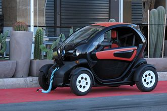 Renault Twizy - Twizy with charging wire out