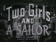 alt=Description de l'image Two Girls and a Sailor (1944).png.