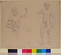 Two Male Nudes, Seated and Standing, after photographs of models by Eugène Durieu MET 2004.425.jpg