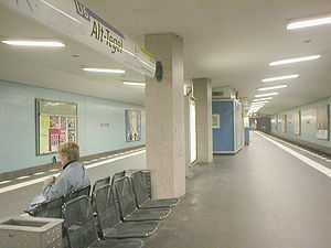 U6 (Berlin U-Bahn) - The underground northern terminus of U6, Alt-Tegel (formerly Tegel)