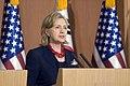 U.S. Secretary of State Hillary Rodham Clinton addresses the media in Seoul, South Korea, July 21, 2010 100721-D-JB366-025.jpg