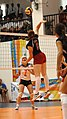 U.S. Womens Volleyball team CISM 2007 spike2.jpg