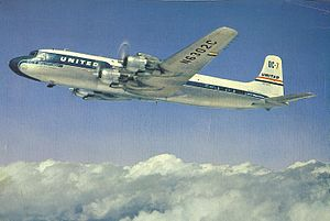 1956 Grand Canyon mid-air collision - Image: UAL DC 7