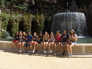 The UConn team at Villa d'Este in Italy