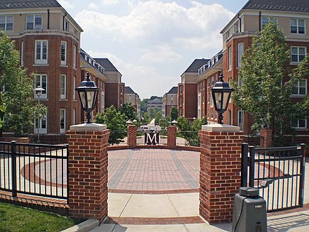 Near the South Commons residential area UMD South VCommons.JPG