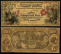 $50 National Gold Bank Note, The First National Gold Bank of San Francisco