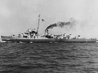 USS Bunch (DE-694) - Image: USS Bunch (DE 694) running trials in Lake Huron on 25 July 1943 (19 N 91200)