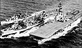 USS Chemung (AO-30) refuels USS Philippine Sea (CVS-47) and a destroyer, in 1958.jpg