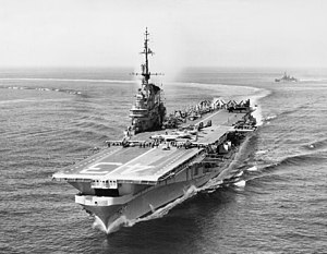 USS Coral Sea (CV-43) - Coral Sea during her 1955 Mediterranean cruise