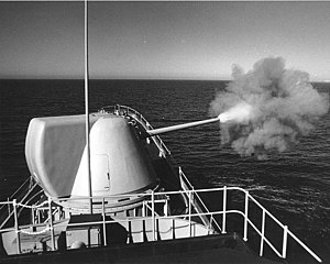 The uss hull test firing a mark 71 mclwg prototype