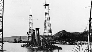Greek battleship Lemnos - Kilkis and Lemnos sunk after German air attack, 1941.