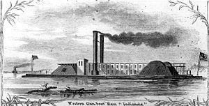 USS Indianola, 1863