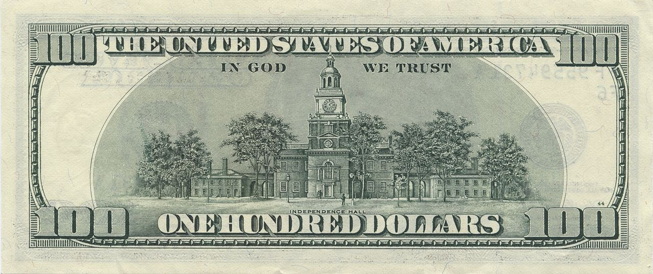 File:US $100 series 2006 reverse jpg - Wikimedia Commons