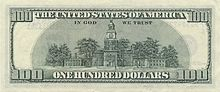 US $100 series 2006 reverse