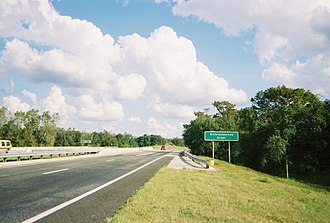 U.S. Route 98 in Florida - US 98-SR 50 both cross over the Withlacoochee River in Ridge Manor.