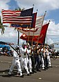 US Navy 040721-N-4658L-143 A Joint Service Color Guard parades the colors during Liberation Day parades on the U.S. territory of Guam.jpg