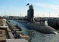US Navy 041018-N-2820Z-002 The Navy's newest attack submarine, PCU Virginia (SSN 774), pulls into port at Naval Station Norfolk, Va., in preparation for her commissioning on October 23, 2004.jpg