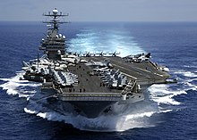 US Navy 050315-N-3241H-001 The Nimitz-class aircraft carrier USS Carl Vinson (CVN 70) underway in the Indian Ocean prior to flight operations.jpg