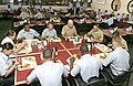 US Navy 050511-N-4204E-024 Chief of Naval Operations (CNO), Adm. Vern Clark, joins a group of Naval Air Station Pensacola area staff and students for lunch at the base galley.jpg