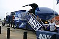 """US Navy 050914-N-0327S-001 Students from the Canadian Valley Technology Center experience the Navy's """"Blue Angels"""" F-A-18 flight simulator allowing the students to experience the thrill of precision flight on.jpg"""