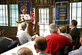 US Navy 070322-N-3271W-001 Commanding Officer, Combat Direction Systems Activity, Dam Neck Capt. Jon Greene speaks about the Navy at Rotary Club meeting.jpg