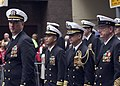 US Navy 070425-N-5253W-003 USS Lassen (DDG 82) Commanding Officer, Cmdr. Marshall Brown, leads a formation of Sailors in the Australia-New Zealand Army Corps (ANZAC) Day Parade.jpg
