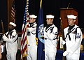 US Navy 070718-N-8949D-005 A color guard detail renders honors at a Naval Special Warfare Group (NSWG) 2 memorial service.jpg