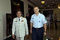 US Navy 071213-N-8623G-227 General Nguyen Duc Soat, deputy chief of General Staff, People's Army of Vietnam, and Chief Master Sergeant James Roy, U.S. Pacific Command senior enlisted leader, bid each other farewell at the concl.jpg