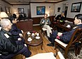 US Navy 101204-N-9626Y-005 Rear Adm. Dan Cloyd, commander of Task Force (CTF) 70 discusses the schedule for Keen Sword 2010 with Japan Maritime Sel.jpg