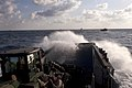 US Navy 110507-N-QP268-079 Landing Craft Utility (LCU) 1644 makes its approach to USS Bataan (LHD 5) during an amphibious training exercise.jpg