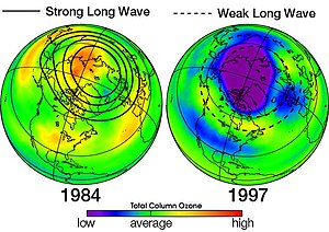 Ozone depletion - Image: Uars ozone waves